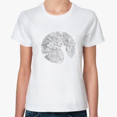 Классическая футболка Контур дерева