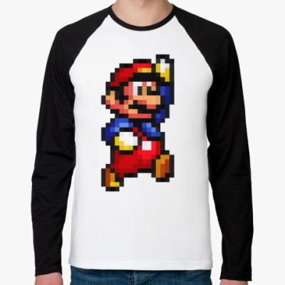 Футболка реглан с длинным рукавом Mario)