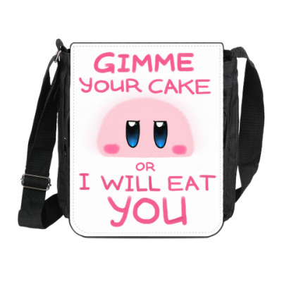 Сумка на плечо (мини-планшет) Kirby: Cake or Life