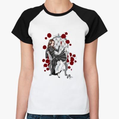 Женская футболка реглан   'Розы'
