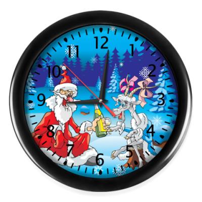 Настенные часы Дед Мороз 2013