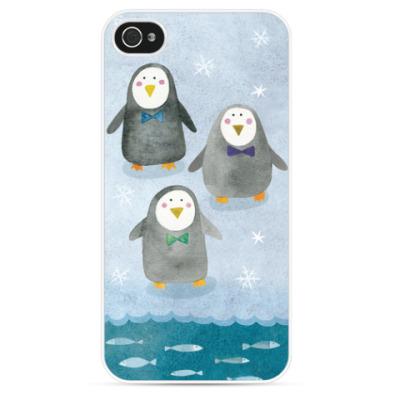 Чехол для iPhone Друзья пингвины