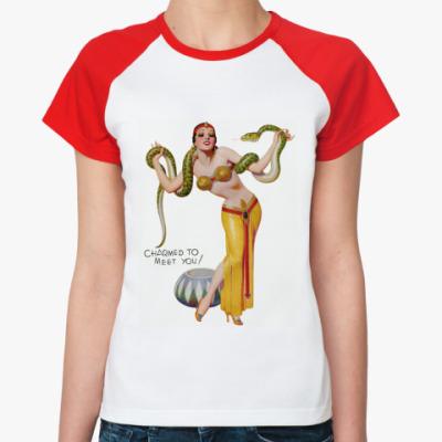 Женская футболка реглан Pin-Up Girl