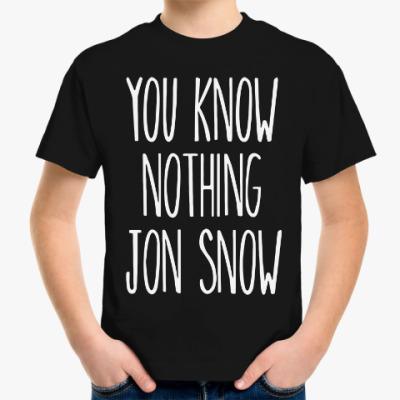 Детская футболка Игра престолов.Джон Сноу