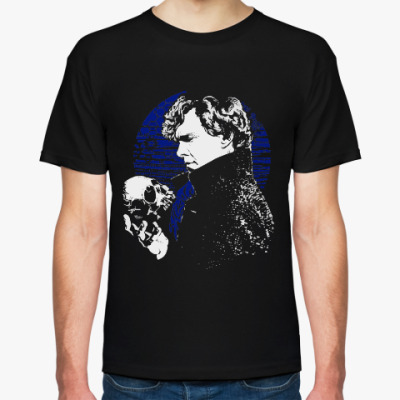Футболка Шерлок с черепом