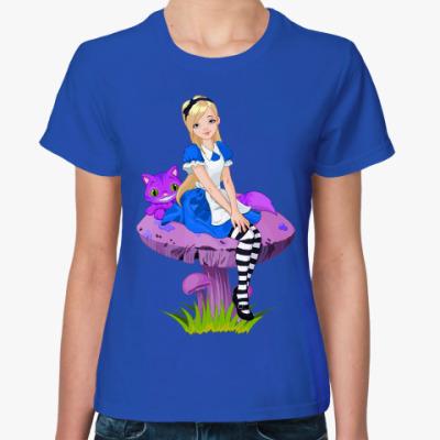 Женская футболка Алиса в Стране чудес