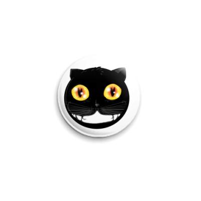Значок 25мм Улыбка кота
