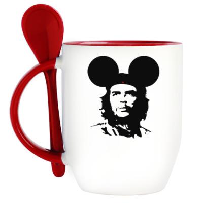 Кружка с ложкой  Mickey Mouse Che Guevara