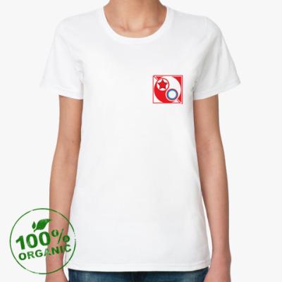 Женская футболка из органик-хлопка Футб орг Красные vs Белые ж