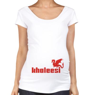 Футболка для беременных Дракон Кхалиси