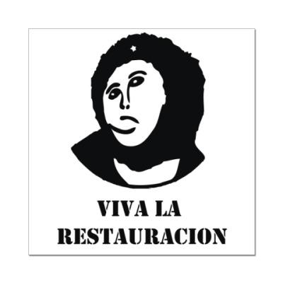 Наклейка (стикер)  Viva la restauration