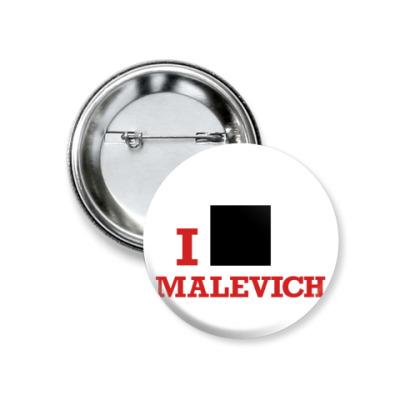Значок 37мм  37 мм Malevich кр.