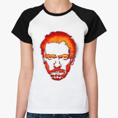 Женская футболка реглан House   Ж(бел/чёрн)