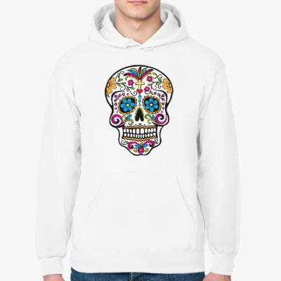 Толстовка худи Мексиканский череп Calavera