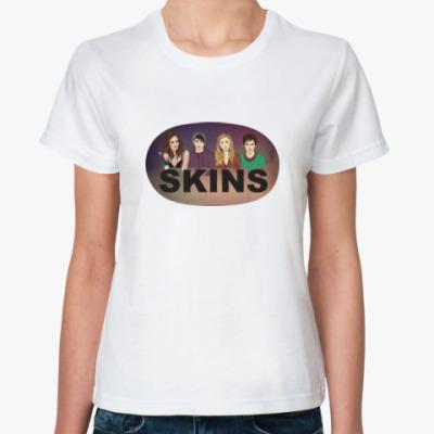 Классическая футболка Женская футболка SKINS