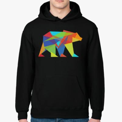 Толстовка худи Геометрический медведь