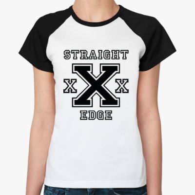 Женская футболка реглан Straight Edge