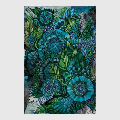 Постер Floral art