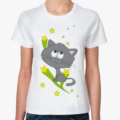 Классическая футболка   Space cat