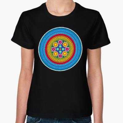 Женская футболка Яркий индийский узор