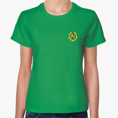 Женская футболка С эмблемой погранвойск