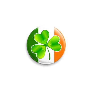 Значок 25мм Ирландский клевер