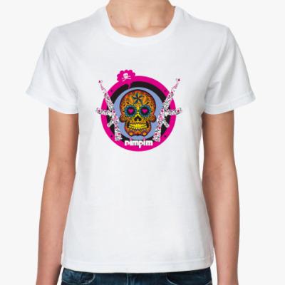 Классическая футболка череп мира