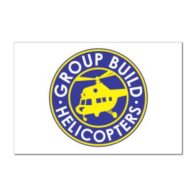 Наклейка (стикер)  12x8 GB:Helicopters