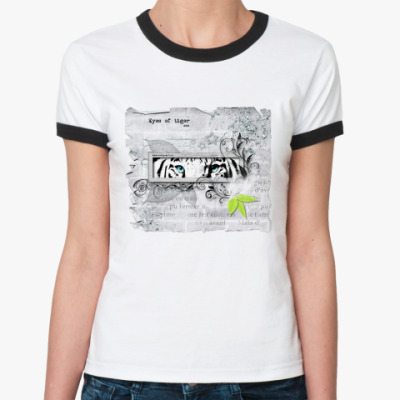 Женская футболка Ringer-T Глаза тигра