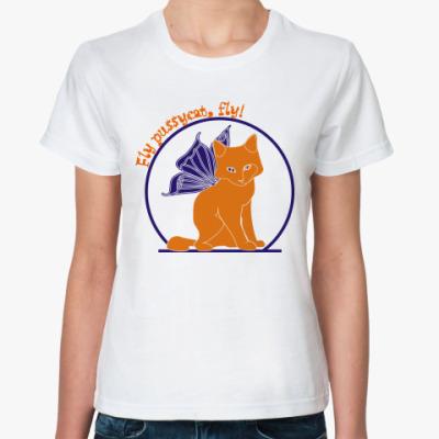 Классическая футболка Флайпусик оранж