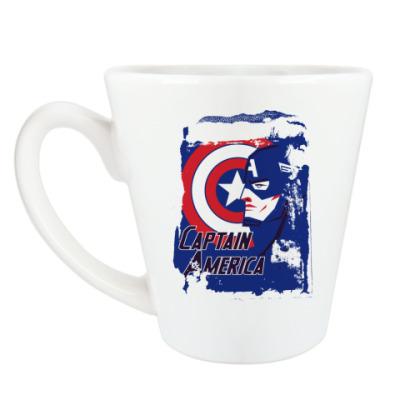Чашка Латте Капитан Америка