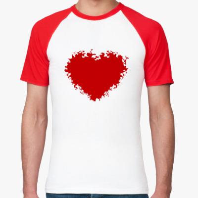 Футболка реглан Красное сердце
