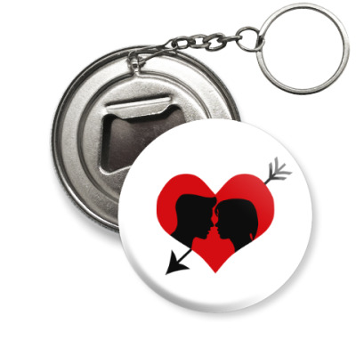 Брелок-открывашка Сердце хочет любви