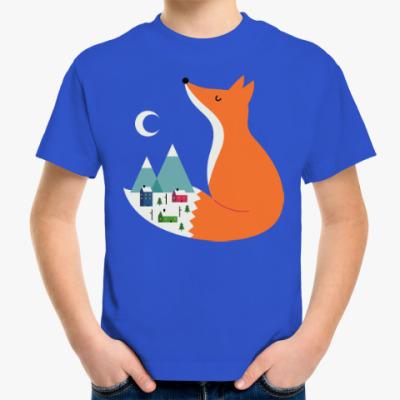 Детская футболка Зимний лис