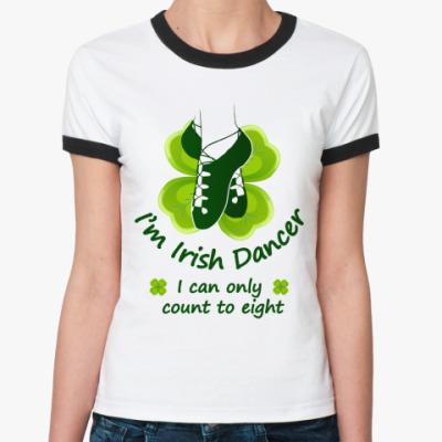 Женская футболка Ringer-T Irish dancer...