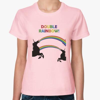 Женская футболка Двойная радуга