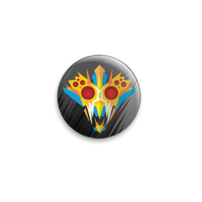 Значок 25мм Ритуальная маска воина