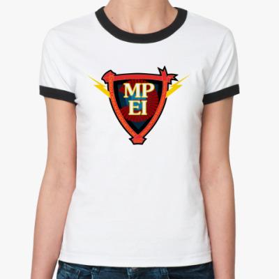 Женская футболка Ringer-T МЭИ