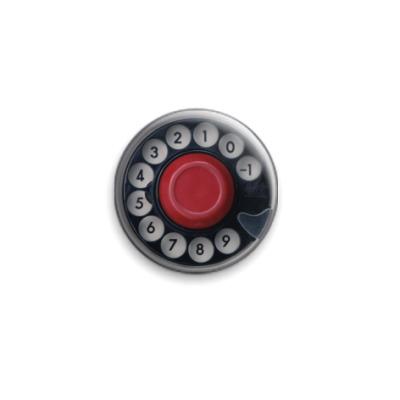 Значок 25мм Диск ретро-телефона