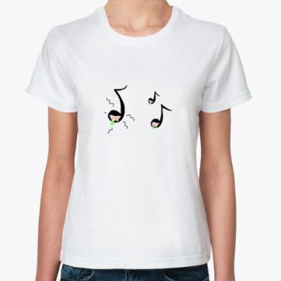 Классическая футболка 'кусачие нотки'