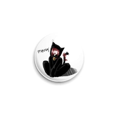 Значок 25мм Meow