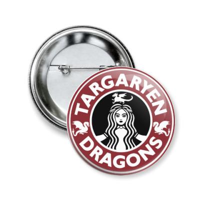 Значок 50мм Драконы Таргариен