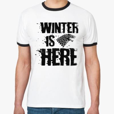 Футболка Ringer-T Игра престолов. Winter is here