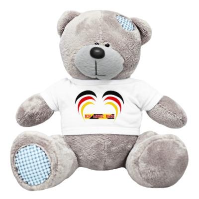 Плюшевый мишка Тедди Я люблю тебя по-немецки