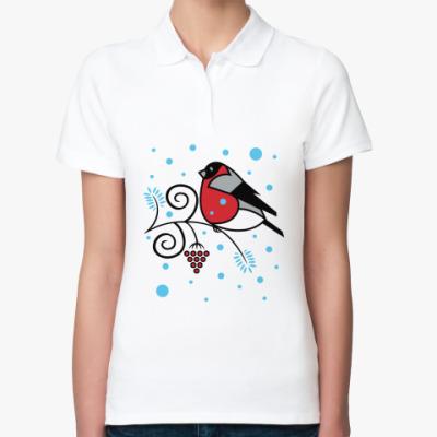 Женская рубашка поло Снегирь