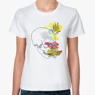 Классическая футболка  Августовский череп