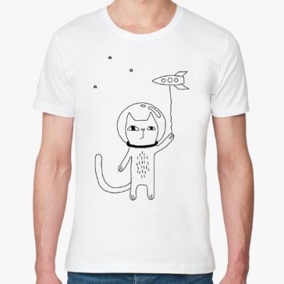 Футболка из органик-хлопка Космический кот