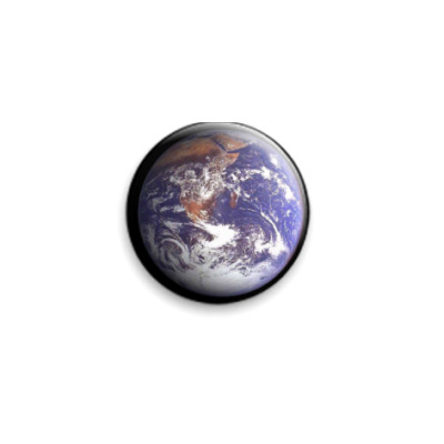 Значок 25мм Earth