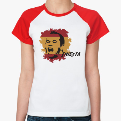 Женская футболка реглан Иньеста