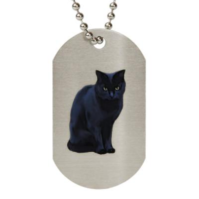 Жетон dog-tag Черный кот